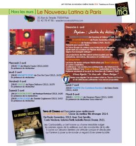 Hors les murs - Progr.Le Nouveau Latina